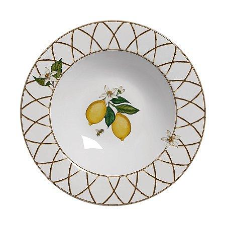 Conjunto de Pratos Fundos com 06 Peças em Cerâmica Siciliano