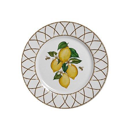 Conjunto de Pratos de Sobremesa com 06 Peças em Cerâmica Siciliano