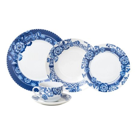 Aparelho De Jantar Super White Santorini 20 Pçs Porcelana