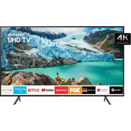 "Smart TV 55"" 4K LED Samsung 55"" Livre de Cabos - UN55RU7100"