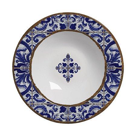 Conjunto de Pratos Fundos com 06 Peças em Cerâmica Coimbra