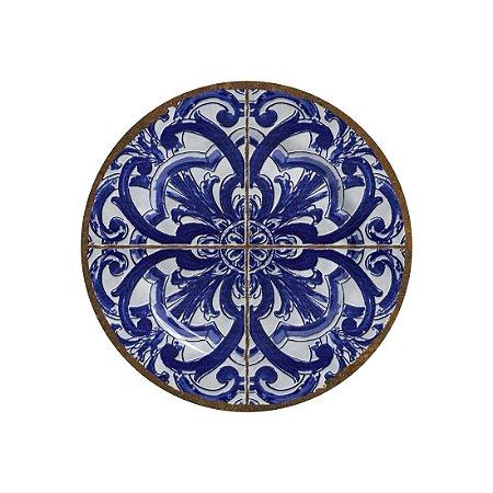 Conjunto de Pratos de Sobremesa com 06 Peças em Cerâmica Coimbra