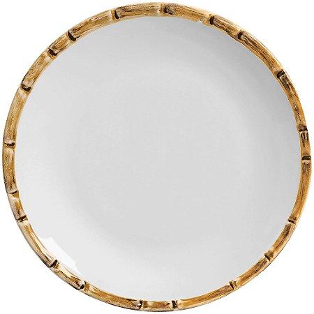 Sousplat em Ceramica Bambu 34cm - Un