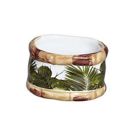 Porta Guardanapo Bambu Ceramica - Trancoso