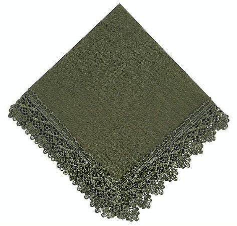 Guardanapo RendaRenda Guipir Verde 45cm x 45cm 100% Poliester un. - Mod 4535