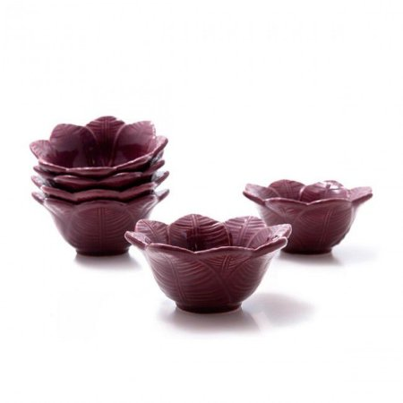 Conjunto de Bowls com 6 Peças em Cerâmica Leaves Sumac