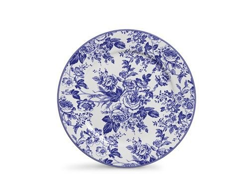 Conjunto de Pratos Rasos com 06 Peças em Cerâmica Blue Garden