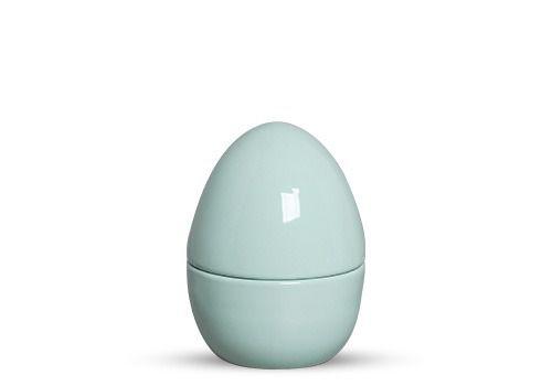 Conjunto de Ovos com 04 Peças em Cerâmica Bunny Verde - Grande