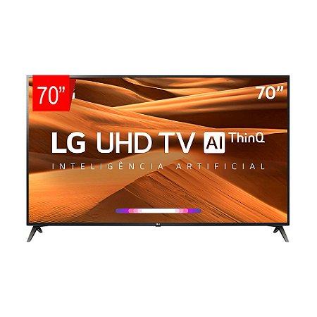 "Smart TV 70"" LED UHD 4K, ThinQ AI, WebOS 4.5, Apple Airplay 2, Processador Quad Core - 70UM7370"
