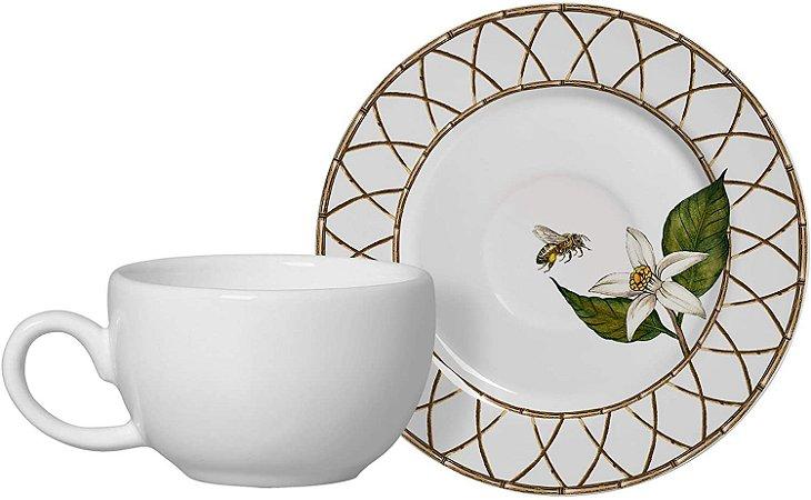 Conjunto de Xicaras de Café com 06 Peças em Cerâmica Siciliano