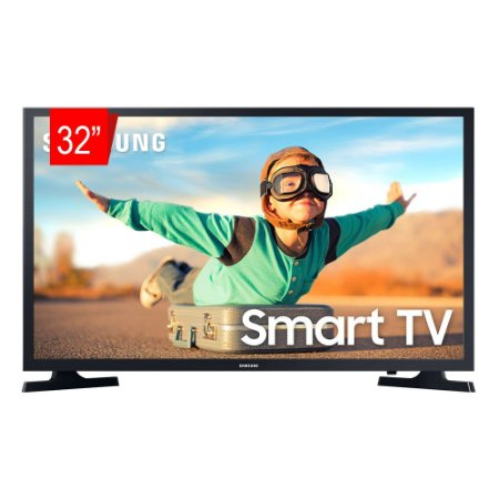 "Smart TV Samsung 32""LED, Wi-Fi, Tizen HD 2020, HDR - 32T4300"