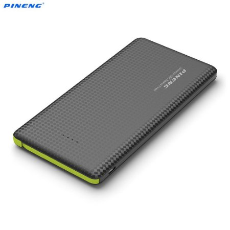 Carregador Portátil Pineng Power Bank Original Slim Pn951 10000mah Preto