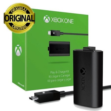 Carregador e Bateria Controle Xbox One Play Charge Original