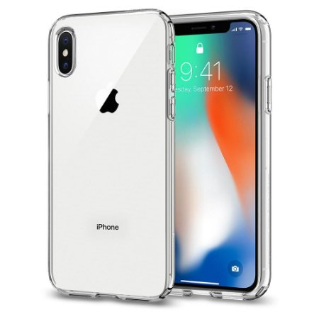 CAPA PARA IPHONE X LIQUID CRYSTAL SPIGEN CRYSTAL CLEAR