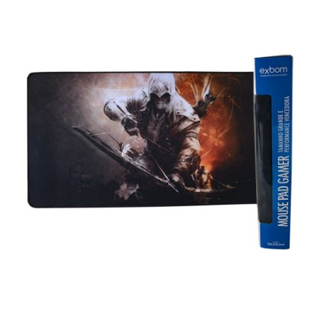 Mouse Pad Gamer ASSASSINO Extra Grande 70x35 Cm Mouse Teclado Pc