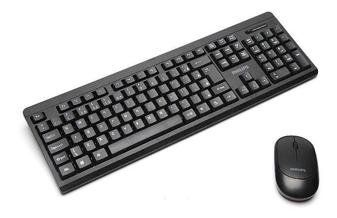 Kit Teclado E Mouse Wireless 2.4 Convenience Philips Spk6324