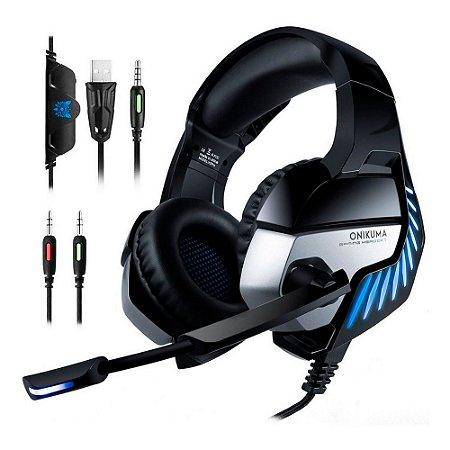 Fone de Ouvido Headset Gamer Profissional Onikuma K5 Pro Azul