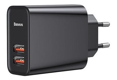 Carregador Baseus Turbo Quick Charger 30W 2 USB 3.0