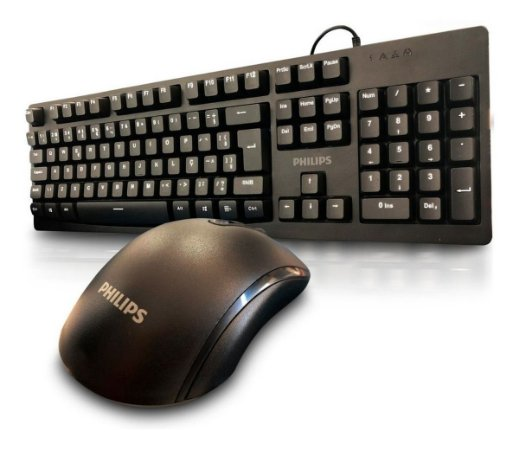 Kit Teclado e Mouse Philips 6214 Combo Silencioso
