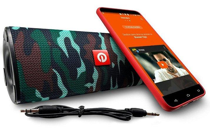 Caixa de Som Portátil Bluetooth Exbom M33BT MP3FM
