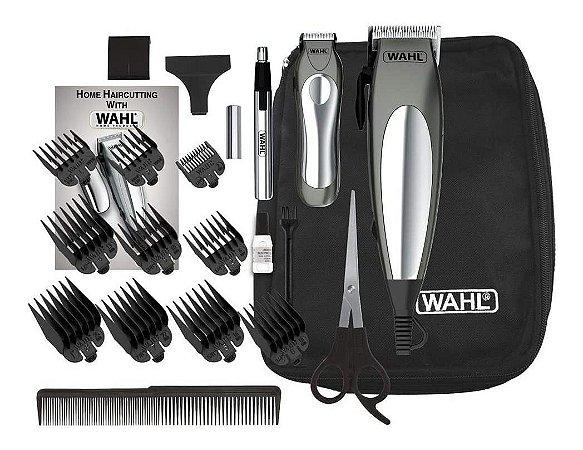 Máquina de Cortar Cabelo Wahl Aparador Kit Deluxe Groom 127v