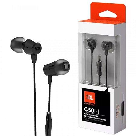 Fone de Ouvido IN-EAR JBL C50 HI Preto