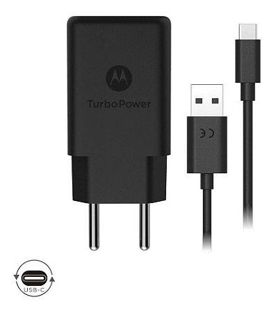 Carregador Motorola Turbo Power Usb Tipo-c 18w