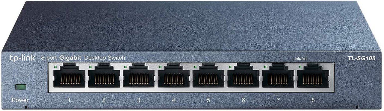 Switch 8 Portas Gigabit de Mesa TP-LINK TL-SG108