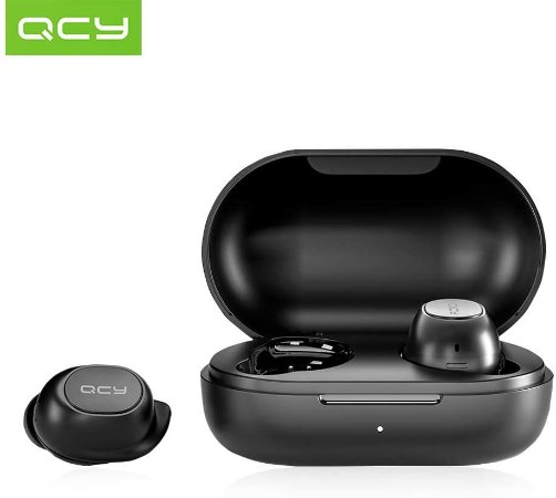 Fone Qcy T9s Mini Bluetooth 5.0 Tws, Controle via app - Lançamento 2020