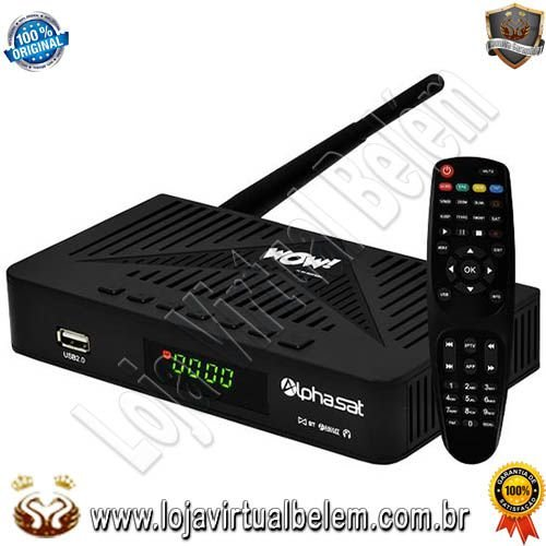 Alphasat WOW! KVM Edition 4K / USB / HDMI / WIFI / Bluetooth / Earbuds / Bivolt
