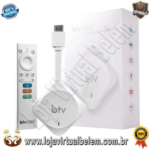 BTV Cast Ultra HD 4K / Iptv / Android / 8GB / 2GB Ram / Wifi / Bluetooth / HDMI / USB