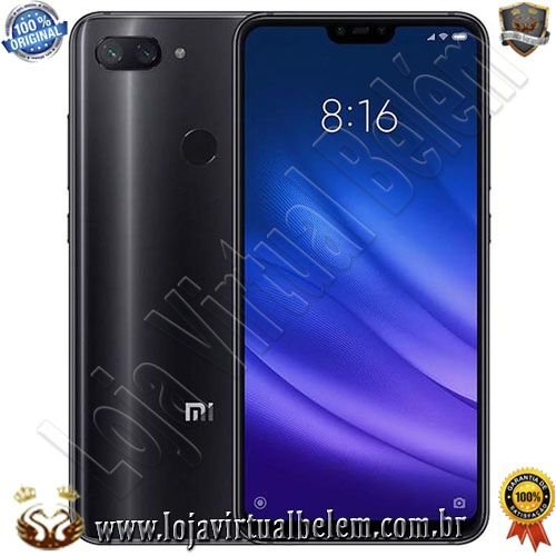 "Smartphone Xiaomi Mi 8 Lite Dual Sim LTE Tela 6.26"" 4GB/64GB-Impressão Digital-Preto"
