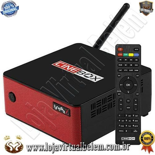 Cinebox Fantasia Z Full HD com Wi-Fi/ Iptv/ Vod/ Bivolt