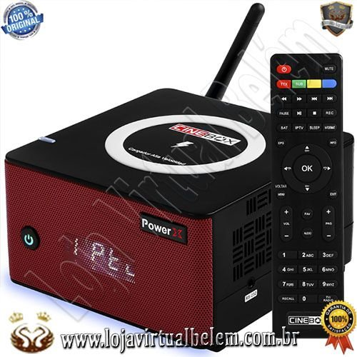 Cinebox Power X Full HD - c/ Carregador Wifi Celular - Lançamento 2020