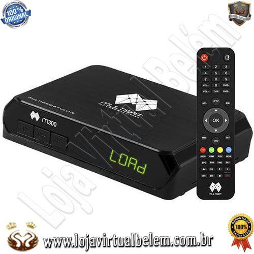 Multisat M300 IKs / Sks Iptv com Wi-Fi/HDMI/USB Bivolt - Preto