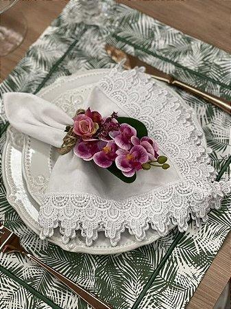 Porta Guardanapo Bouquet Mini Orquídea Pink