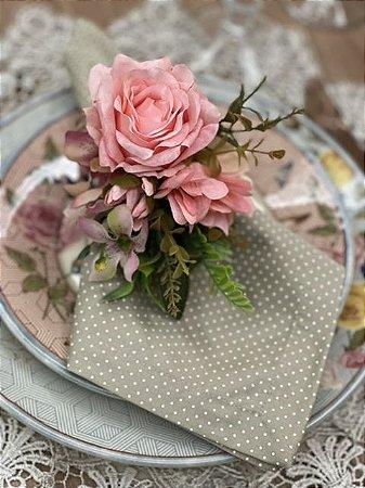 Porta Guardanapo Bouquet Delux - Rosa