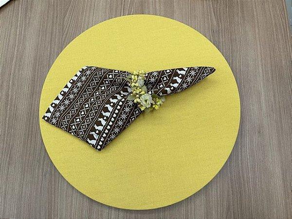 Kit 4 Lugares Amarelo Chocolate