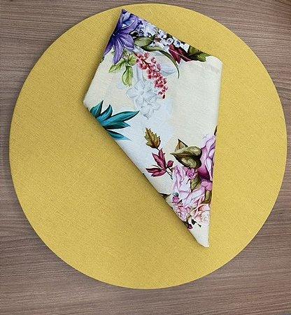 Kit 6 Lugares amarelo Floral