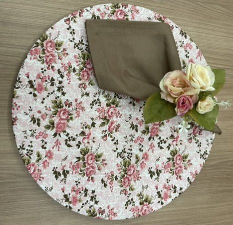 Kit 6 Lugares Floral Rosa
