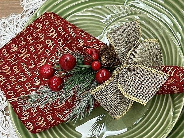 Porta Guardanapo Laço Rústico Natal