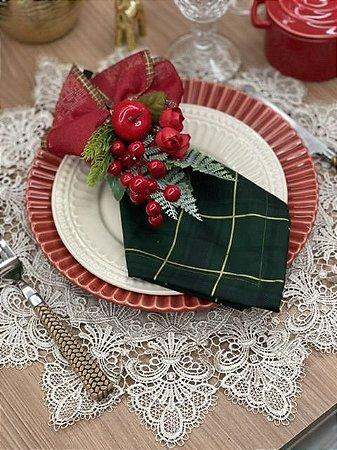 Guardanapo Xadrez Verde Natal