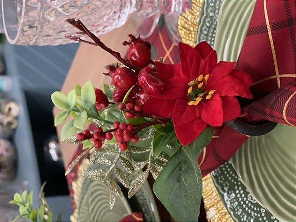 Porta Guardanapo Bouquet Natal Flor