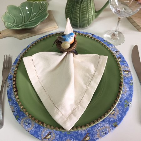 Capa de Sousplat Pássaro Azul