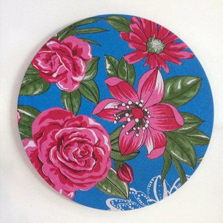 Capa de Sousplat Chita Azul e Rosa Pink