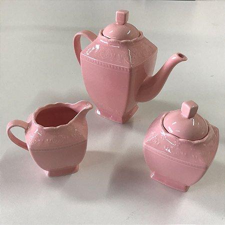 Jogo de Chá Rosa