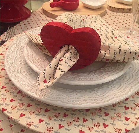 Capa de sousplat Flor de coração
