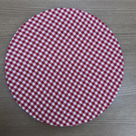 Capa de Sousplat  Xadrez Branco com Vermelho