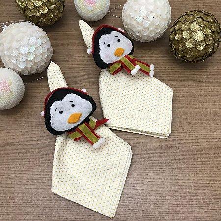 Porta Guardanapo Pinguim de Natal