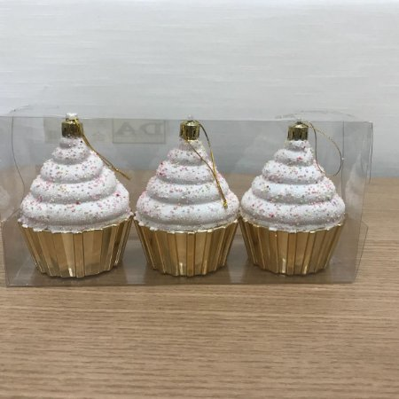 Enfeite Cupcake com 3 unidades